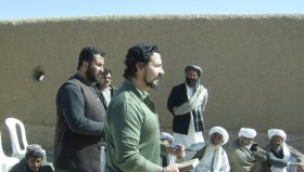Discussion in Gulestan, Afghanistan (Farah Province)